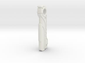 SciFi Magnetic Key Fob in White Natural Versatile Plastic