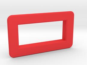 "Bezel for 0.28"" voltmeter in Red Strong & Flexible Polished"