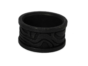 Damascus Ring (random pattern) in Polished and Bronzed Black Steel