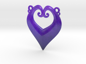 Heart-y IC Pendant in Glossy Full Color Sandstone