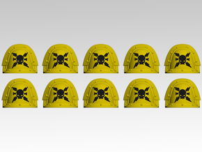 Destroyers V.3 Shoulder Pads x10 in Smoothest Fine Detail Plastic