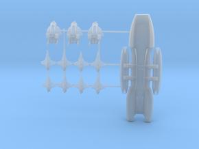 Battlestar Galactica 1:15000 Plus Fighters sprued in Smooth Fine Detail Plastic