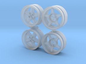 WHEEL Batch STL in Smooth Fine Detail Plastic