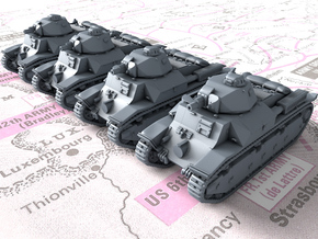 1/285 (6mm) French Char D2 Medium Tanks x4 in Smoothest Fine Detail Plastic