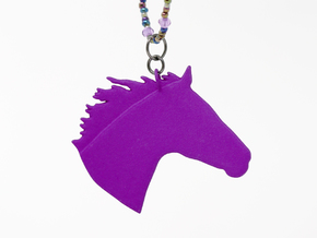 the Chanto Pendant in Purple Processed Versatile Plastic