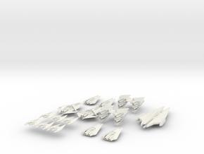 NR Fleet Pack Full Thrust Scale in White Natural Versatile Plastic