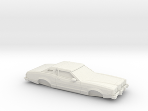1/32 1974-76 Mercury Cougar in White Natural Versatile Plastic