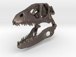 Dino Skull - Raptor Replica in Polished Bronzed Silver Steel