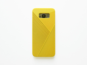 Samsung Galaxy S8 case_Geometric in Yellow Processed Versatile Plastic