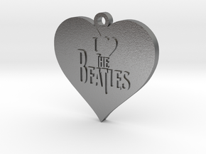 I Love The Beatles pendant in Natural Silver