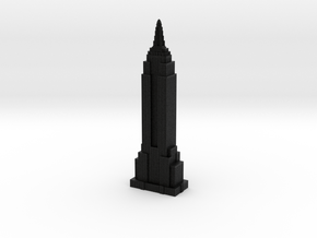 Empire State Building - Black w black windows in Full Color Sandstone