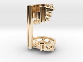 Korbanth / Parks LS6 - Master Var1 Part2 in 14k Gold Plated Brass