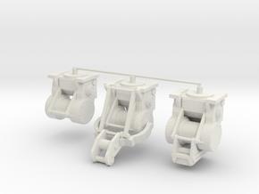 1/25th Bulldozer logging type winches in White Natural Versatile Plastic