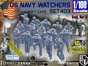 1/100 USN Watchers Set403 in Smooth Fine Detail Plastic