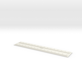 O gauge Direct F 12 track FULL in White Natural Versatile Plastic