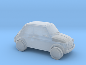 Fiat 500 in Smooth Fine Detail Plastic