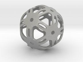 Well Rounded Symmetrical Sphere  in Aluminum: Medium