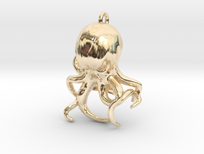 Cthulhu Bottle Opener in 14k Gold Plated Brass