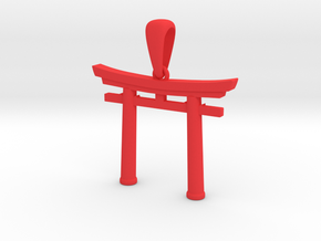 shinto torii amulet in Red Processed Versatile Plastic: Medium