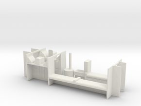 HOn3 D&RGW RGS Caboose interior  in White Natural Versatile Plastic
