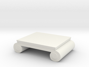 Miniature Brook Street Cocktail Table in White Natural Versatile Plastic: 1:48 - O
