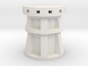 XVIII-XIX century Capstan 1:24 scale in White Natural Versatile Plastic