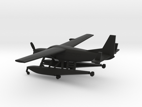 Cessna 208A Caravan Amphibian in Black Natural Versatile Plastic: 1:200