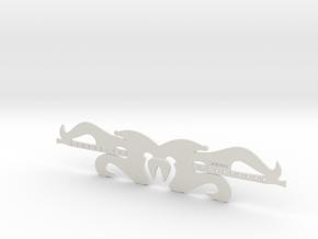 Mirror Dream Guitar Bookmark in White Natural Versatile Plastic