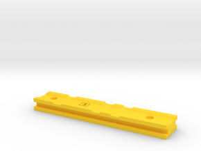 "Nerf Rail - Standard 3.8"" in Yellow Processed Versatile Plastic"