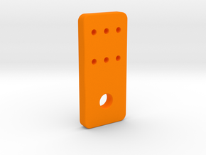 OX CNC - Y Axis Limit Switch Bracket v3 in Orange Processed Versatile Plastic