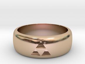 zelda Triforce ring 9.5 mens size in 14k Rose Gold