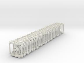 HOn30 Gilpin Tramway Trucks x24 in White Natural Versatile Plastic