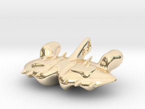 The dreaded Space-Manta-Ray in 14k Gold Plated Brass