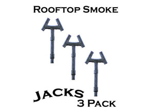 Smoke Jack Roof Vents S Scale in Smooth Fine Detail Plastic