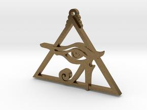 Eye of Ra Pyramid in Natural Bronze