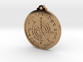 Wanderer Compass  in Polished Brass