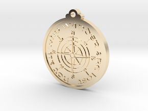 Wanderer Compass  in 14k Gold Plated Brass