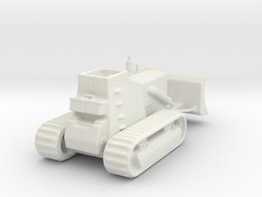 Armoured Bulldozer  d7 1/56 ww2 28mm in White Natural Versatile Plastic