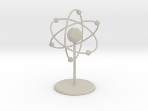 Atom Model in Natural Sandstone