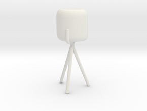 Miniature Gelato Table Lamp - Ligne Roset in White Natural Versatile Plastic: 1:12