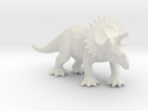 1/72nd scale Triceratops in White Natural Versatile Plastic