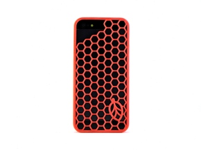 Hexagon Case in Red Processed Versatile Plastic