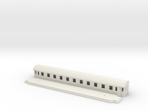 Co8b - Swedish passenger wagon in White Natural Versatile Plastic