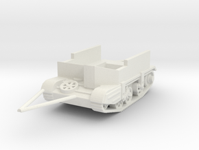 gutted carrier AVRE tracked trailer  1/72  in White Natural Versatile Plastic
