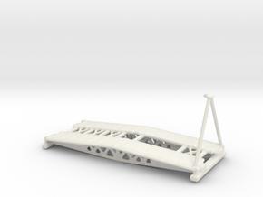 Churchill A.V.R.E 1/100 small girder bridge in White Natural Versatile Plastic