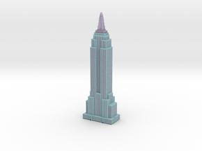 Empire State Building - Light Blue w Black windows in Full Color Sandstone