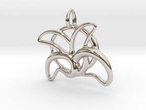 leafs of flower in Rhodium Plated Brass