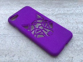 Iphone 7 Case, Geometric Fox/Wolf in Purple Processed Versatile Plastic