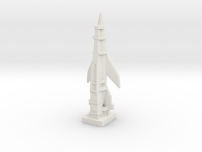 A-6 Rocket (Germany) ICBM in White Natural Versatile Plastic