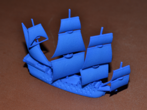 Manila Galleon in Blue Processed Versatile Plastic: Large